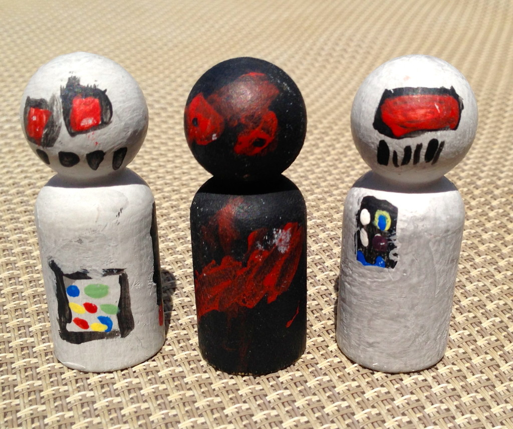 kokeshi dolls from history crafts kit